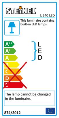 L 240 LED Anthracite