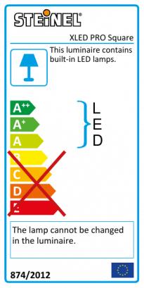 XLED PRO Square eNet - white