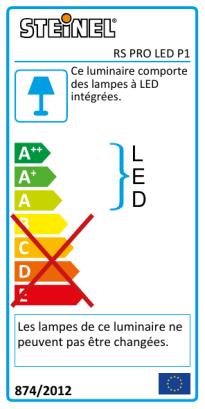 RS PRO LED P1 SL bl. chaud