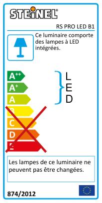 RS PRO LED B1 Éclairage de secours PMMA blanc chaud