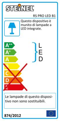 RS PRO LED B1 Luce di emergenza PMMA bianco caldo