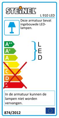 L 910 LED antraciet