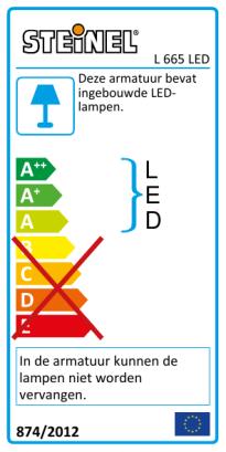 L 665 LED antraciet