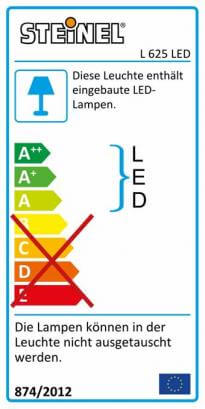 L 625 LED Alu silber
