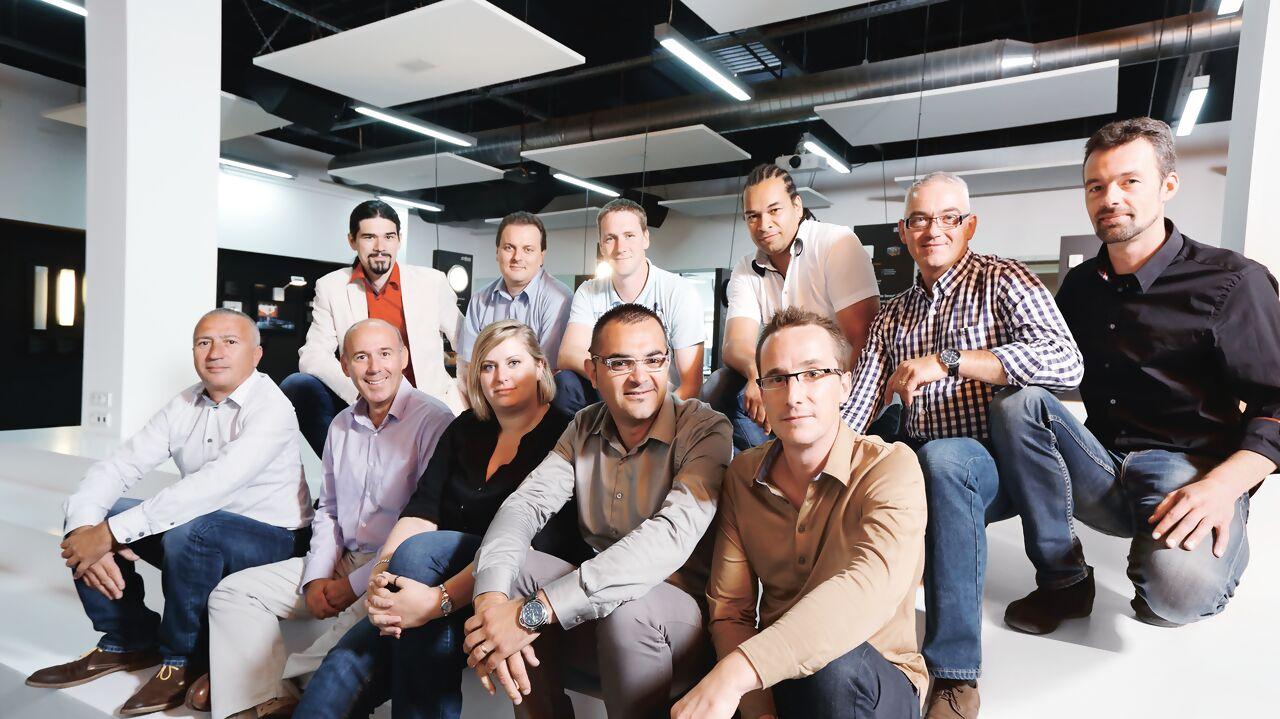 Gruppenfoto der Steinel-Partner in der Akademie
