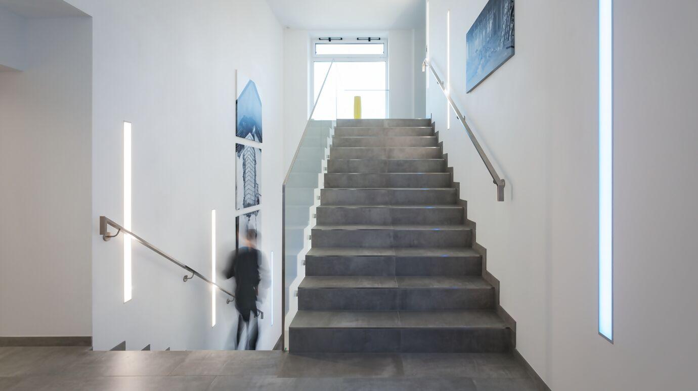 Treppenhaus im Bürogebäude