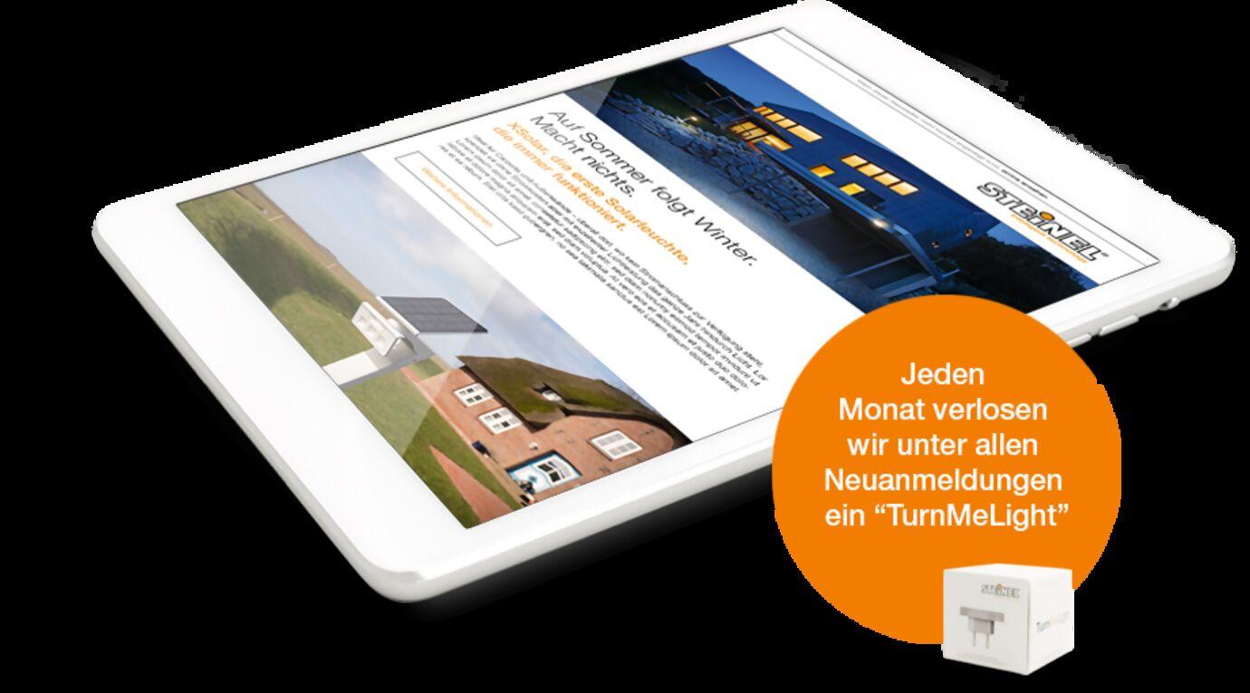 Abbildung des DIY-Newsletters auf einem Tablet