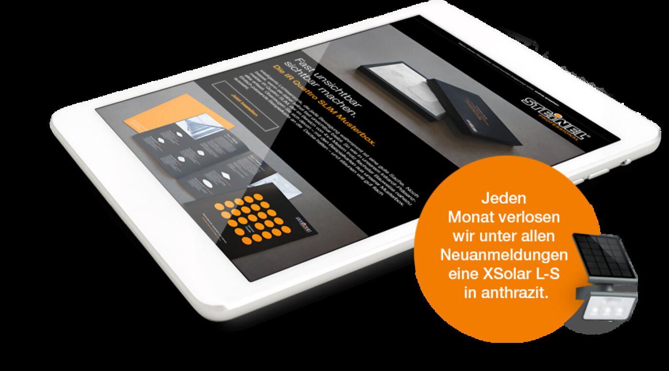 weißes Tablet