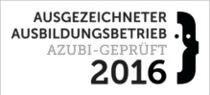 Ausgezeichneter Ausbildungsbetrieb. Azubi-geprüft 2016
