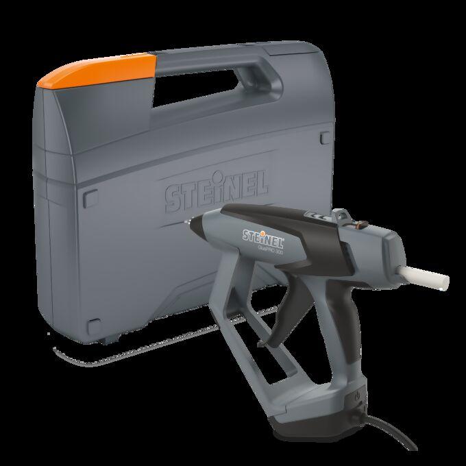 Produktbild der Heißklebepistole GluePro 300 mit Koffer