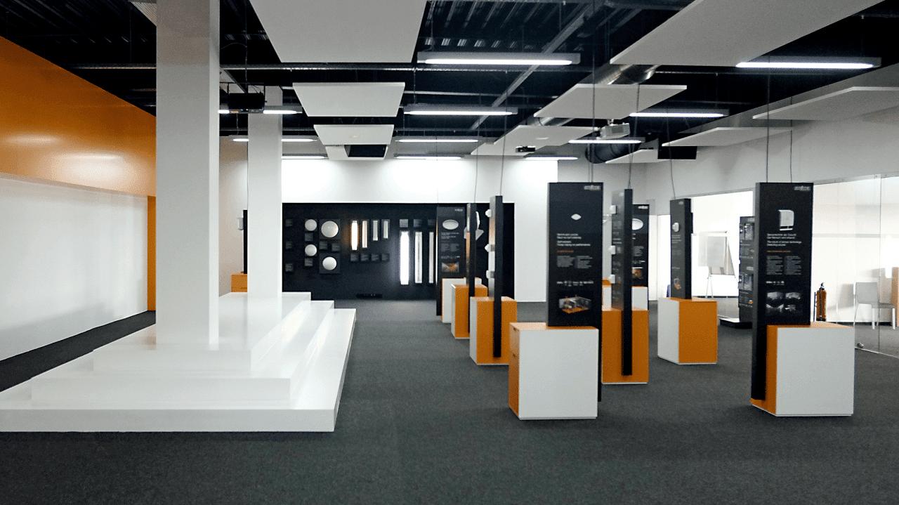 Ausstellungsraum der PRO-Leuchten