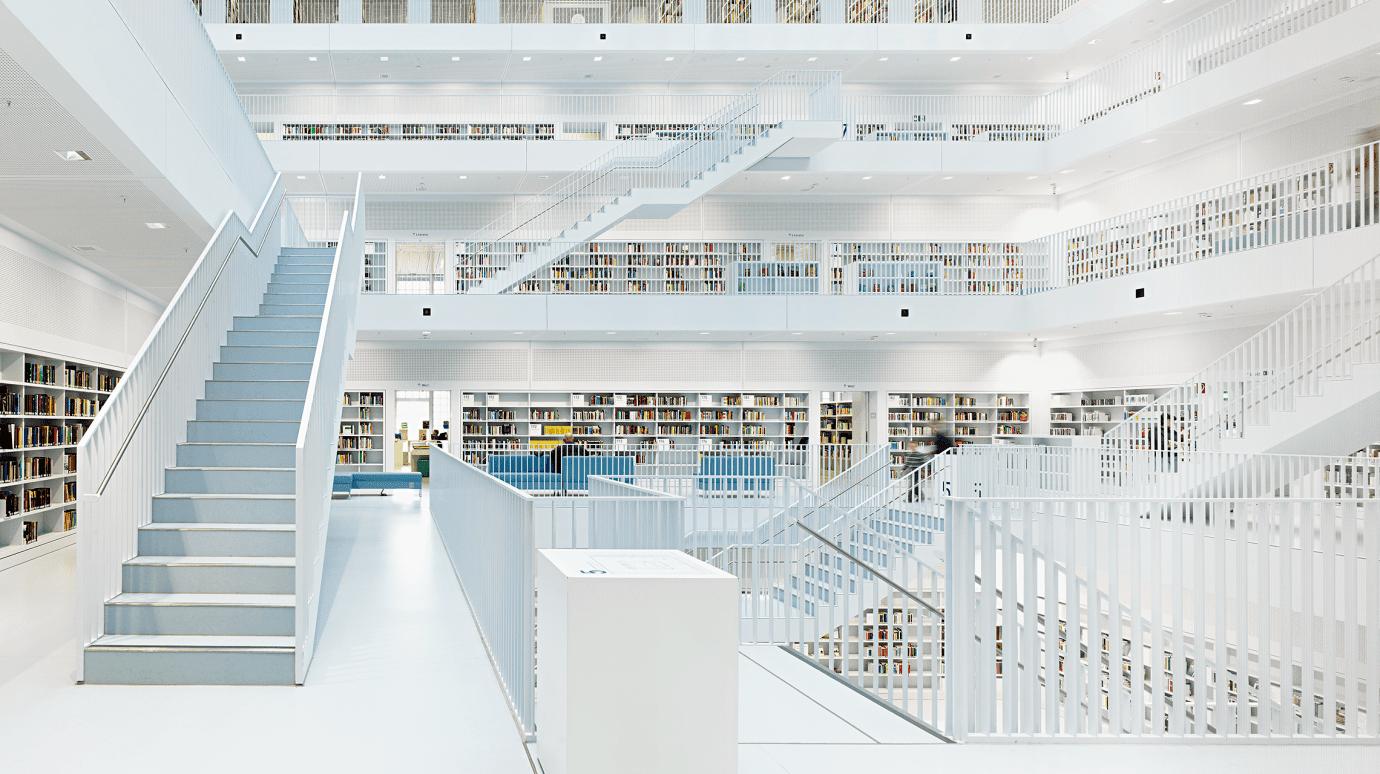 Stadtbibliothek Stuttgart von innen