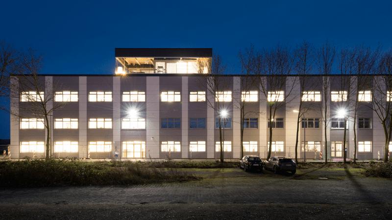 Frontal-Ansicht des Bürogebäudes in Goch