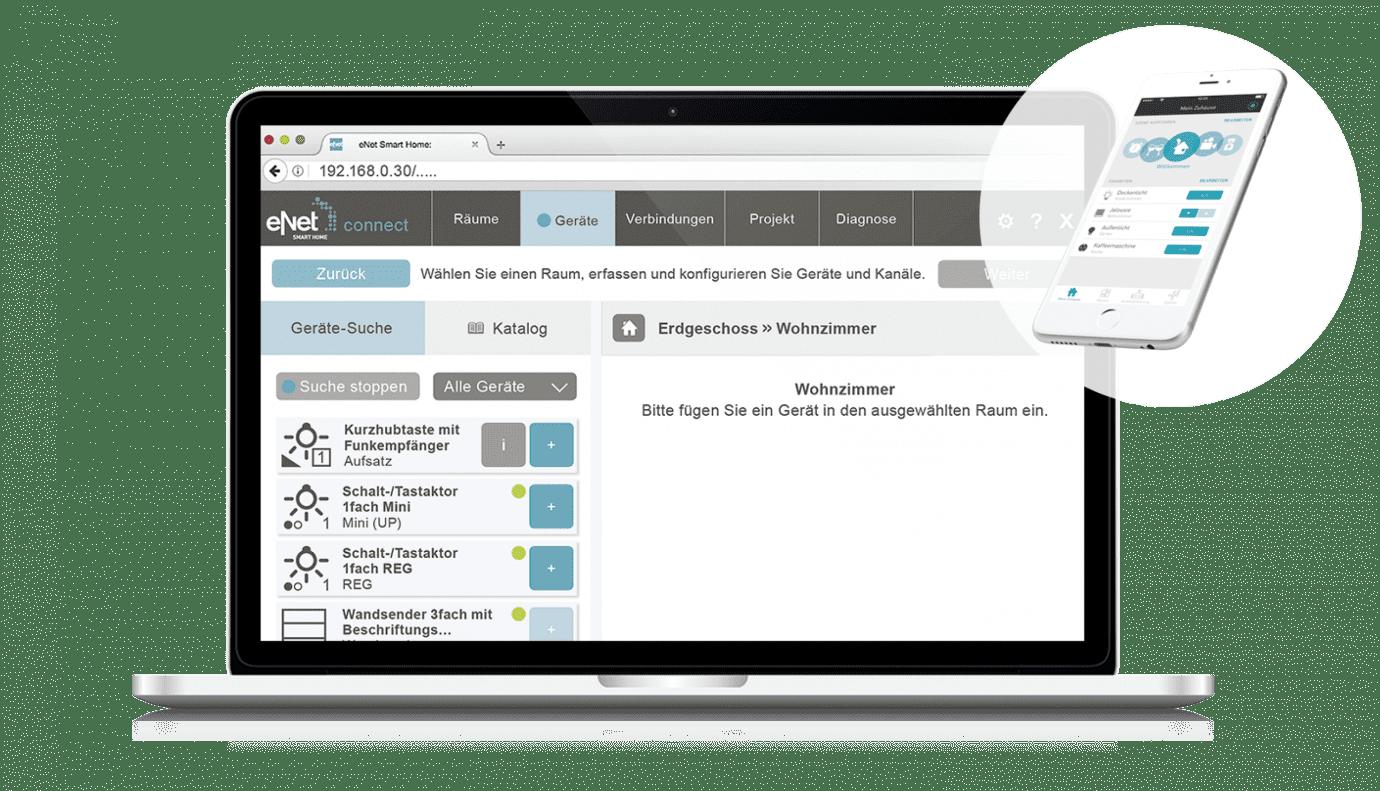 eNet in der Anwendung als Desktopbild