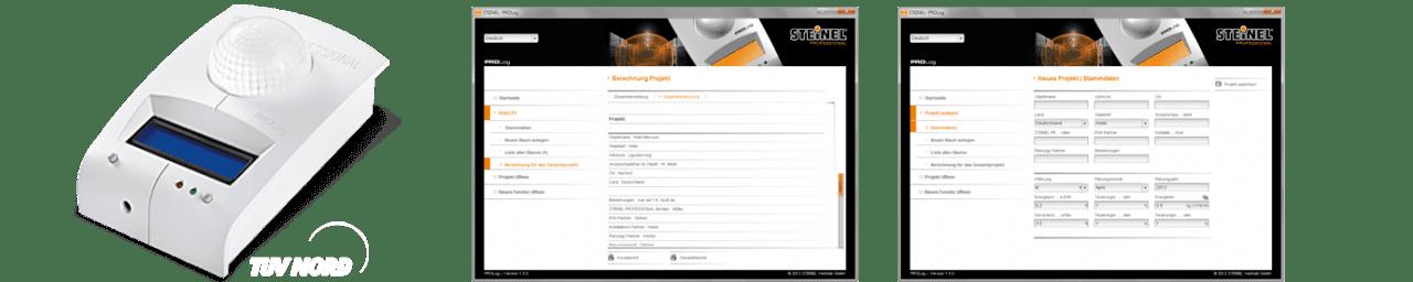 Produktbild des ProLOG und Ausschnitt aus dem Analysesystem