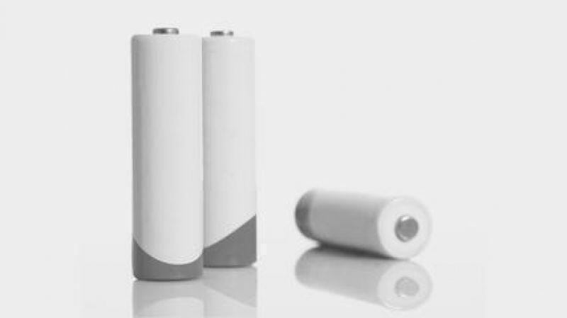 Batterien in schwarz-weiß
