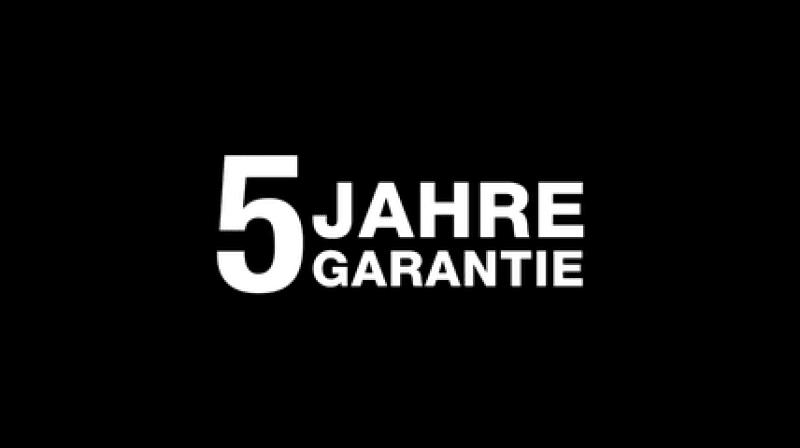 """Schriftzug """"5 Jahre Garantie"""""""