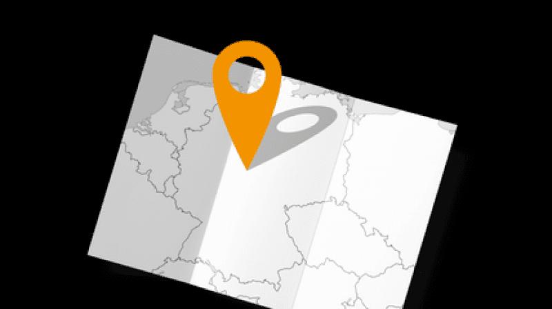 Landkarte mit Standort-Symbol