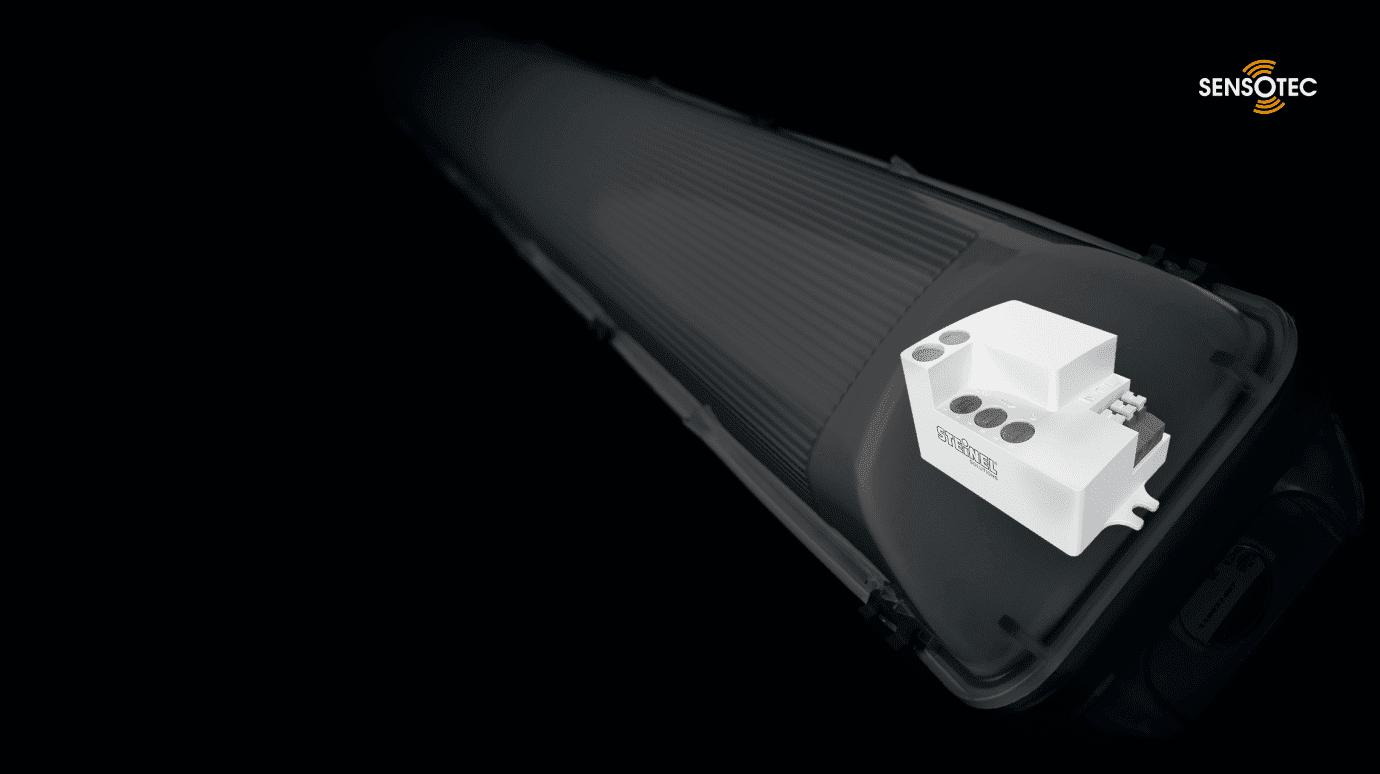 Bauteil in einer Sensor-Leuchte wird hervorgehoben