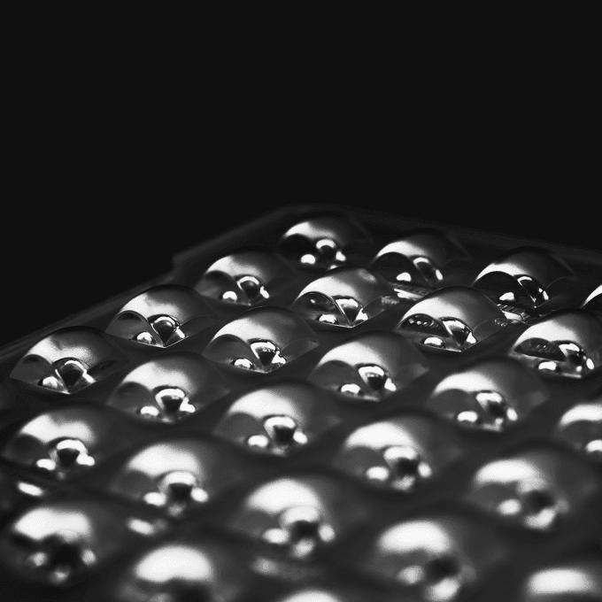 Nahaufnahme eines LED-Panels