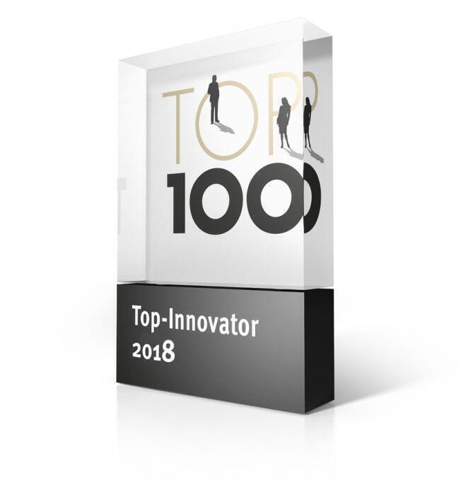 Urkunde zum Top 100 Innovator 2018