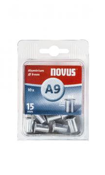 A9 6 x 15 mm M6 alluminio 10 pezzi