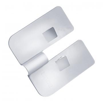 Stamped steel plate weld slide