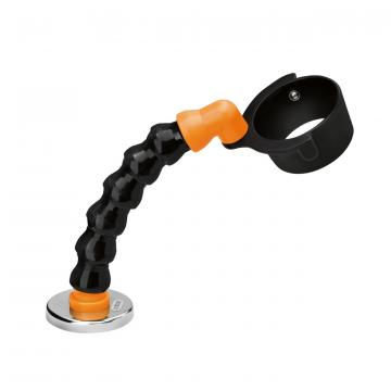 Flexible hot air tool stand with magnetic foot