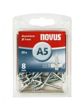 A 5 x 8 mm aluminium 30 pcs.