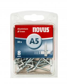A 5 x 8 mm aluminium 30 stk.