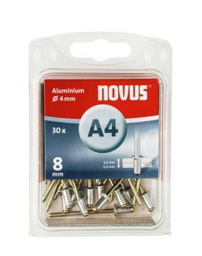 A 4 x 8 mm aluminium 30 stk.