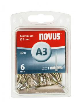 A 3 x 6 mm aluminium