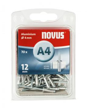 A 4 x 12 mm aluminium 70 stk.