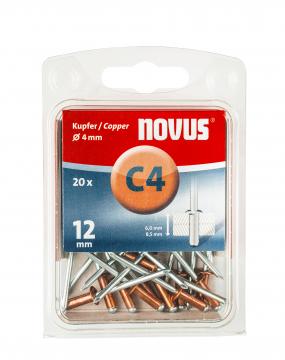 C 4 x 12 mm Kupfer 20 Stück