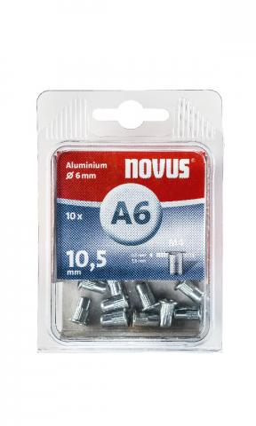 A6 4 x 10,5 mm M4 aluminium 10 stk.