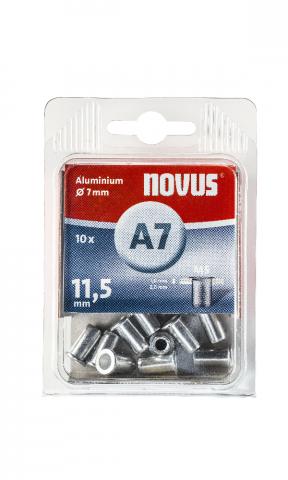 A7 5 x 11,5 mm M5 Aluminium 10 Stück
