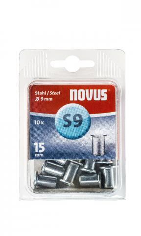 S9 6 x 15 mm M6 Steel 10 pcs.