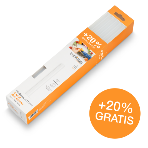 Glue sticks Ø 11 mm Crystal 20 ea. (600 g)