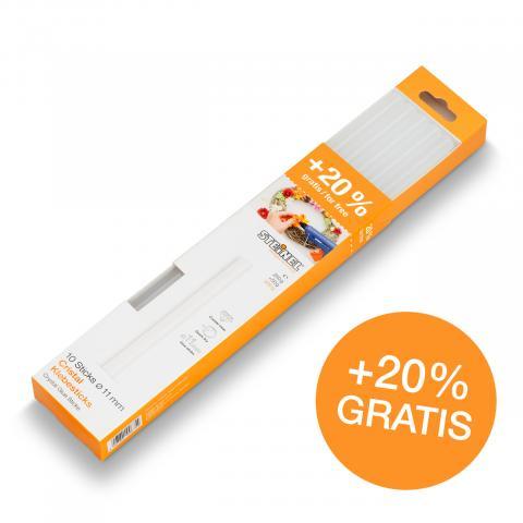 Glue sticks Ø 11 mm Crystal 10 ea. (300 g)