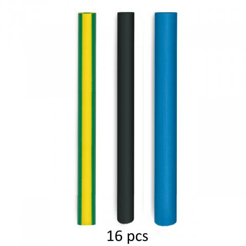 Heat-shrinkable tubing set for electrical installations
