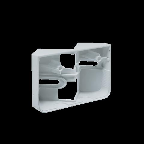 Eckwandhalter XLED home 2 silber