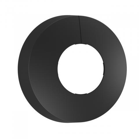 Schwarze Blende für IR-Sensoren Aufputz rund
