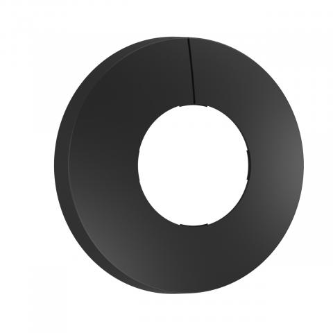 Schwarze Blende für IR-Sensoren Unterputz rund