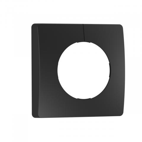 Schwarze Blende für IR-Sensoren Unterputz eckig