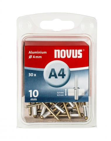 A 4 x 10 mm aluminium 30 stk. 30 st.
