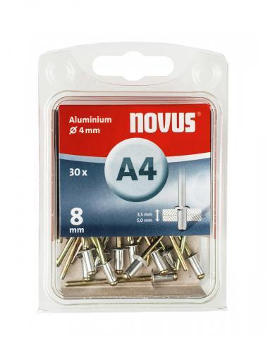 A 4 x 8 mm aluminium 30 stk. 30 st.