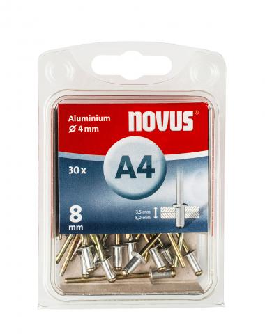 A 4 x 8 mm alluminio 30 pezzi 30 pz.