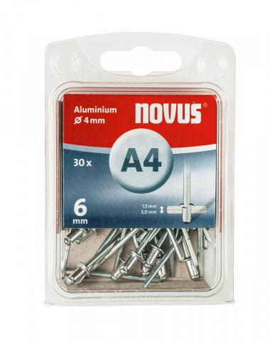 A 4 x 6 mm Aluminium 30 Stk.