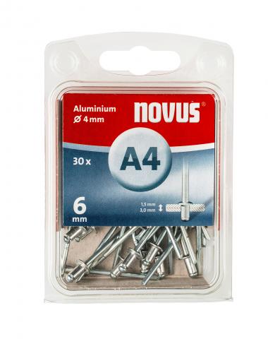 A 4 x 6 mm alluminio 30 pezzi 30 pz.