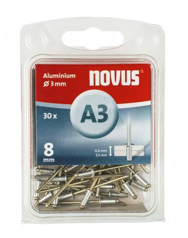 A 3 x 8 mm aluminium 30 st.